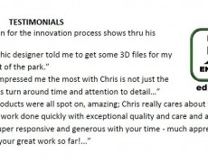 Various Testimonials from Fellow Inventors and Entrepreneurs