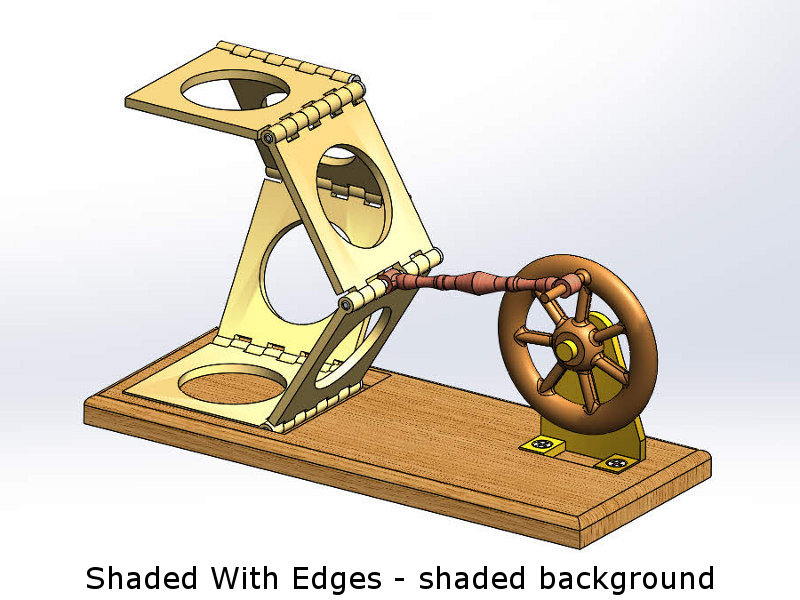 Shaded with Edges - Shaded Background